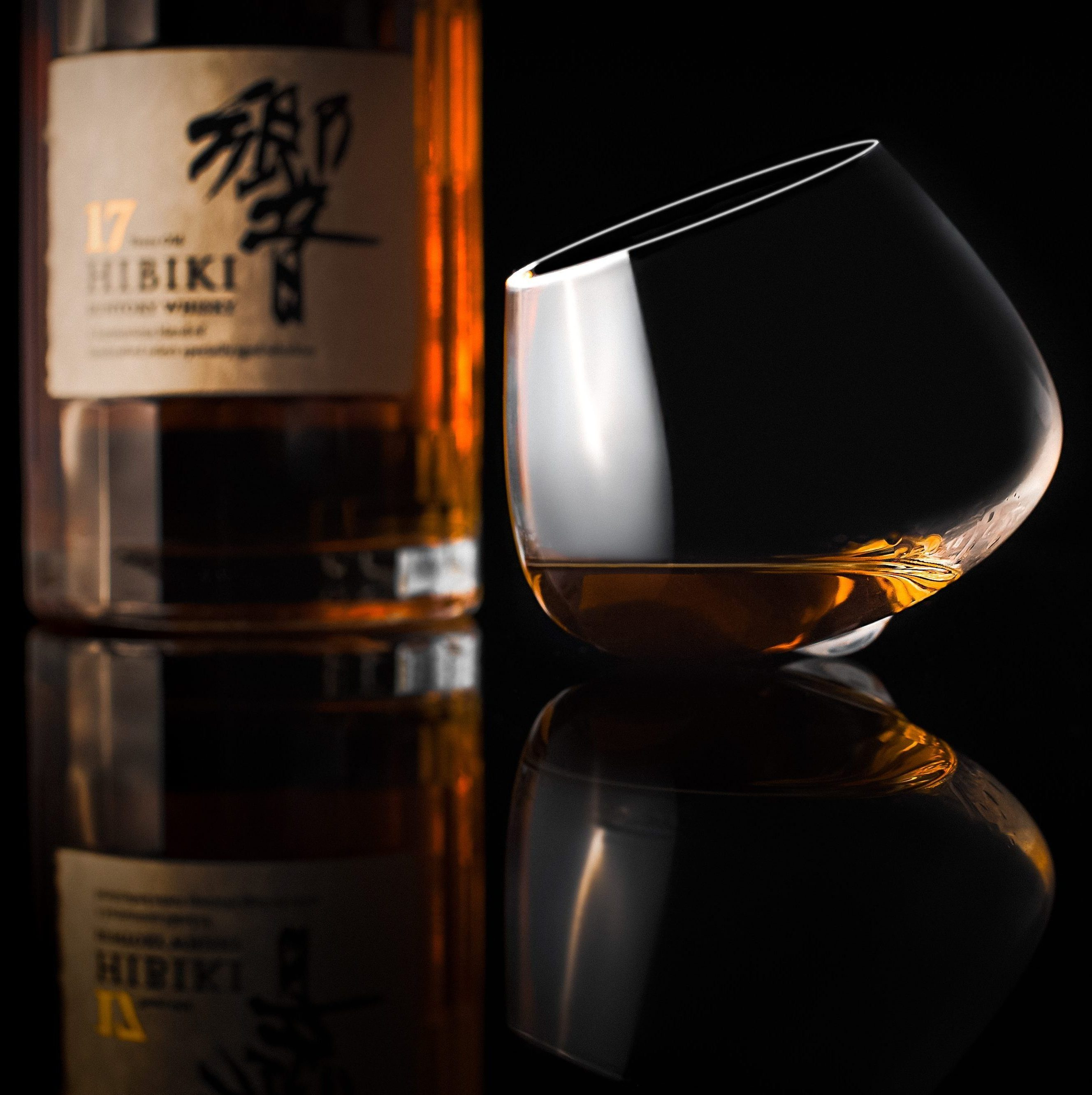Whisky - Hibiki 17 and glass